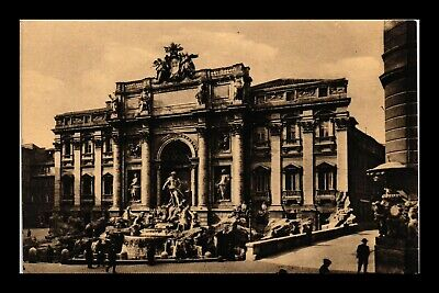 Dr Jim Stamps Trevi Fountain Rome Italy Postcard
