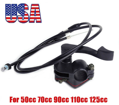 Thumb Throttle Cable For 50cc 70cc 90cc 110cc 125cc ATV Kazuma Roketa Taotao US