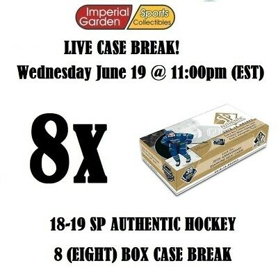 18-19 SP AUTHENTIC 8 (EIGHT) BOX CASE BREAK #1332 - Edmonton Oilers