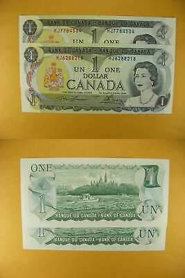 3341 Canada Lot of 2 1973 $1 GemUNC