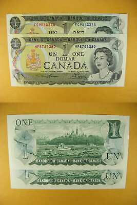 3342 Canada Lot of 2 1973 $1 GemUNC