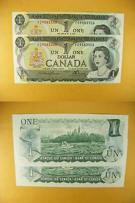 3343 Canada Lot of 2 1973 $1 GemUNC