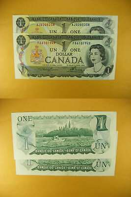 3348 Canada Lot of 2 1973 $1 GemUNC
