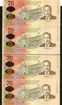 SINGAPORE 20 Dollars New 2019 200th Bicentennial Commemorative W/Folder UNC Note