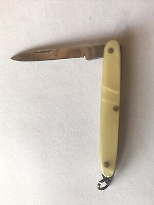 Vintage Folding Fruit PenKnife Vicom Made In Italy
