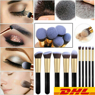 10Pcs Make up Pinsel Set Kosmetik Augenschminke Gesichts Puder Lippenpinsel Kit
