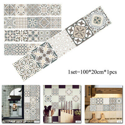 Kitchen Tile Stickers Bathroom Mosaic Sticker Self-adhesive Wall Decor Furniture