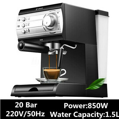 20 Bar Semi Automatic Coffee Machine Maker Barista Espresso Latte Milk  HOT