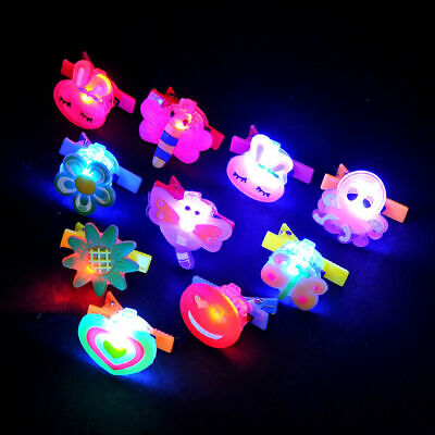 Fashion Cartoon LED Hairpin Kids Girls Flash Glowing Bobby Pin Hair Accessories