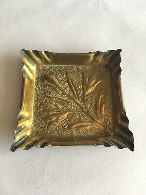 Circa 1900 Arts & Crafts Brass Pin Tray In The Manner Of Margaret Gilmour