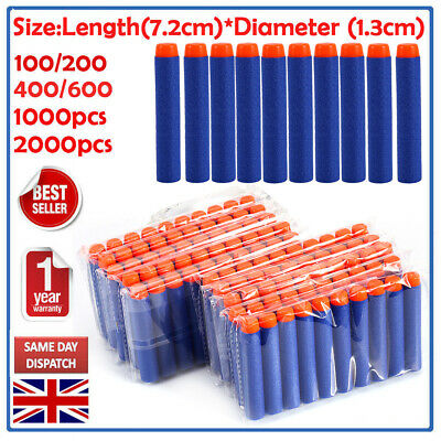 3000Pcs Gun Soft Refill Bullets Darts Round Head Blasters For Nerf N-Strike Toy