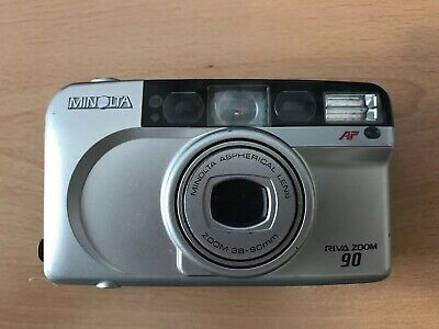 Minolta Riva Zoom 90 - Retro 35mm Film camera 38-90mm zoom Great Condition