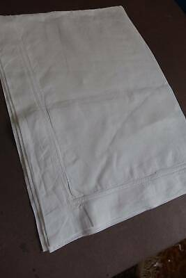 Antique white Irish linen Oxford pillowcase with double whipcord hems
