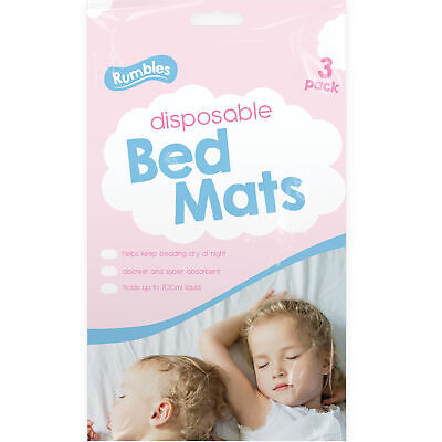 3pc Disposable Bed Mats 700ml Baby Changing Travel Incontinence Protection Sheet