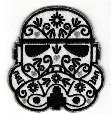 Star Wars Stormtrooper Helmet Decorative Patch 3 1/4 inches tall