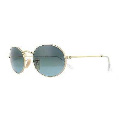 Ray-Ban Sonnenbrille Oval RB3547 001/3M Gold Blau Graue Gradient