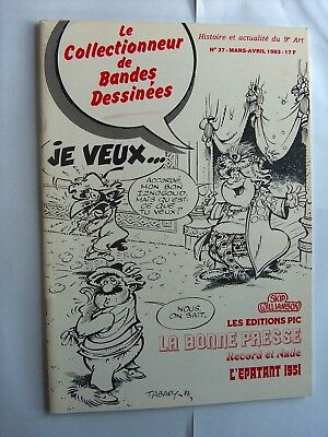 Revue Le Collectionneur De Bandes Dessinees N°37 Mars-Avril 1983 Tbe