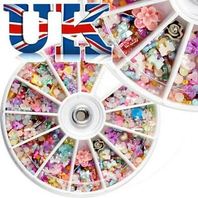 New Wheel Nail Art 3D Rhinestone Glitter Gems Decoration Charms