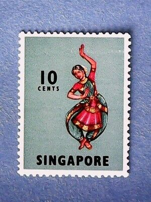 Singapore. QE2 1973 10c Multicoloured. SG105b. Wmk W41. P13. MNH.