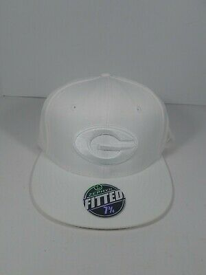 info for c6a8c 25e0f Georgia Bulldogs All White Fitted Cap Hat Size 7.75 Zephyr New College Dawgs