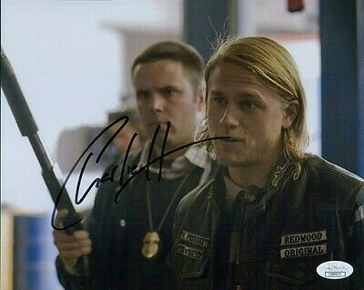 Charlie Hunnam Sons of Anarchy Signed 8x10 Matte Photo JSA Authenticated