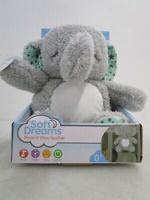 Sweet Dreams Music & Glow Soother Plush Elephant Working IOB
