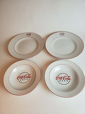 Set of 2 Gibson Coca Cola Cafe China Bowls and deep plates