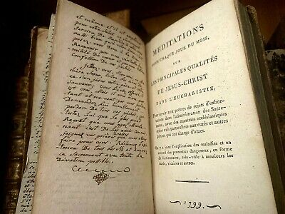 1799 MEDITATIONS FOR EVERY DAY OF THE MONTH manuscript book