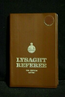 LYSAGHT REFEREE – SC, 25th Ed, Undated 1st Metric Ed, 1957, Very Good Condition