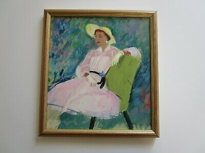 Mystery Artist Fox? Collection Painting 1940'S To 1950'S  Woman Female Fashion