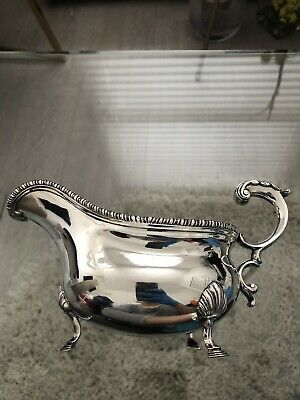 Antique footed sauce boat, Carrington Plated Silver, 130 Regents street