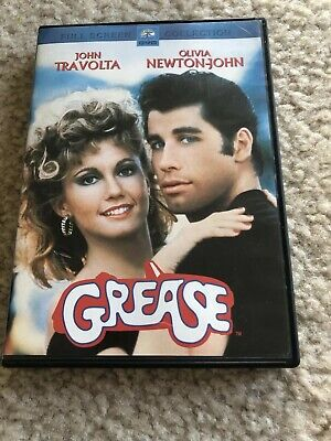 Grease (1978 DVD) John Travolta Olivia Newton John Movie Fullscreen Edition