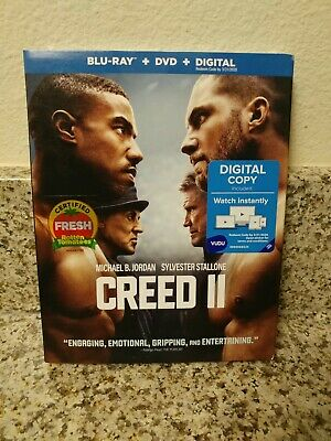 Creed 2 (Blu-Ray + DVD + Digital + Slip Cover) FACTORY SEALED