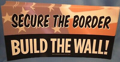 Wholesale Lot Of 10 Trump Sticker Secure The Border Build The Wall 2020 Gop Usa