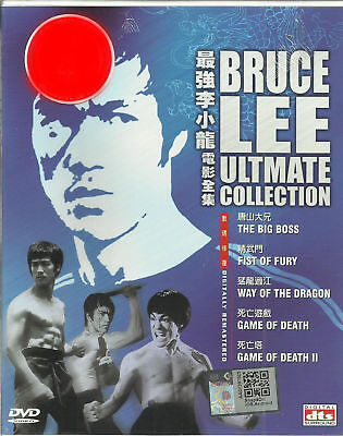 DVD English Version Bruce Lee Ultimate 5 Movie Collection Box Set ( last 3)