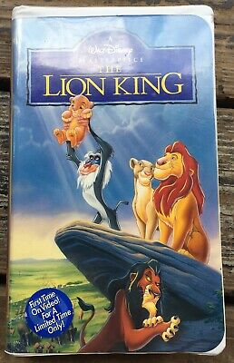 Walt Disney Masterpiece The Lion King VHS 1995 Video Tape