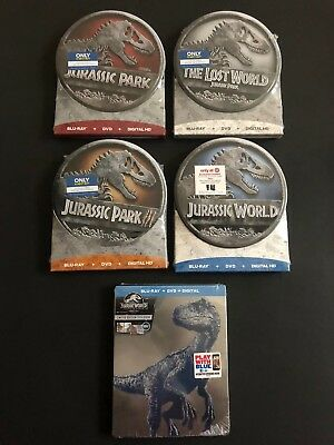 THE JURASSIC PARK SERIES [5 x Blu-ray+DVD 2018] BEST BUY + TARGET-EXCLUSIVE SETS