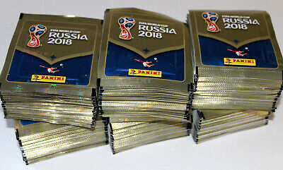 Panini WC WM RUSSIA 2018 18 INT. VERSION 670 – 300 x Tüte packet bustina MINT