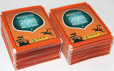 Panini ROAD TO FIFA WORLD CUP RUSSIA 2018 - 100 TÜTEN PACKETS 500 Sticker
