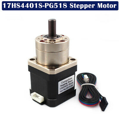 4-lead Nema17 Stepper Motor Ratio 5.18:1 Planetary Gearbox 17HS4401S-PG518