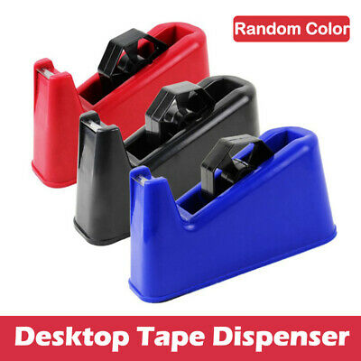 New HEAVY DUTY TAPE DISPENSER Desktop Office Sellotape Cellotape Pack Holder UK