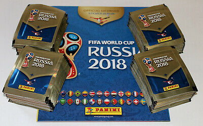 Panini WC WM RUSSIA 2018 18 INT. VERSION 670 – 200 x Tüte packet + ALBUM MINT