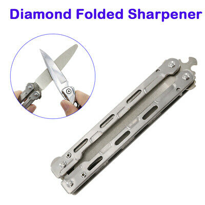 Folding Double Sides Diamond File Whetstone Blade Sharpener Honer Outdoor Use