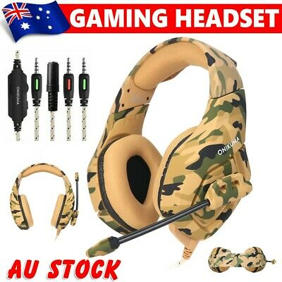 ONIKUMA K1 3.5mm Mic Stereo Gaming Headset for PC Laptop PS4 Xbox One YELLOW