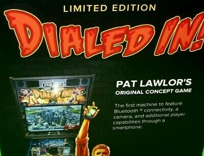 DIALED IN Limited Edition Original NOS Pinball Machine Promo Sales Flyer 2017