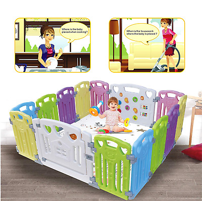 Baby Playpen Kids Activity Centre Safety Play Yard Baby Fence Play Area Baby New
