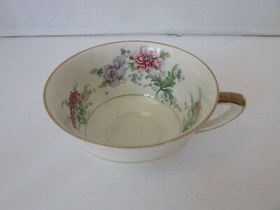 Baronet China Teacup Made In Bohemia Czechoslovakia Pink & Violet Florals