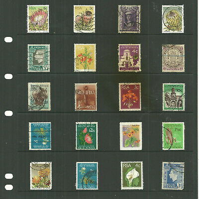 South Africa  one sheet Pictorial used stamps