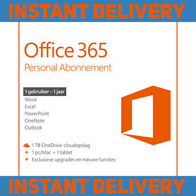 MS Office 365 Home Personal 2016 2019 Pro 5 Users PC Download