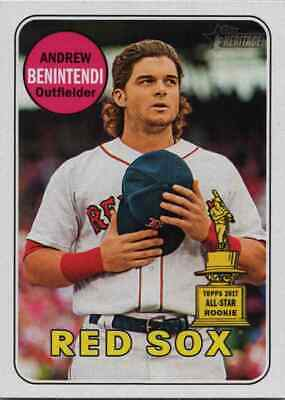2018 Topps Heritage Andrew Benintendi All Star Rookie #13 Red Sox